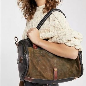 Free People Tote Overnight Leather Suede Messenger